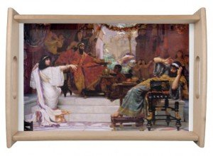 Esther Denouncing Haman Serving Tray