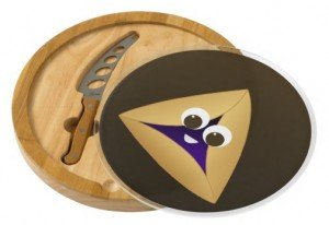 Happy Hamentashen Round Cheese Board