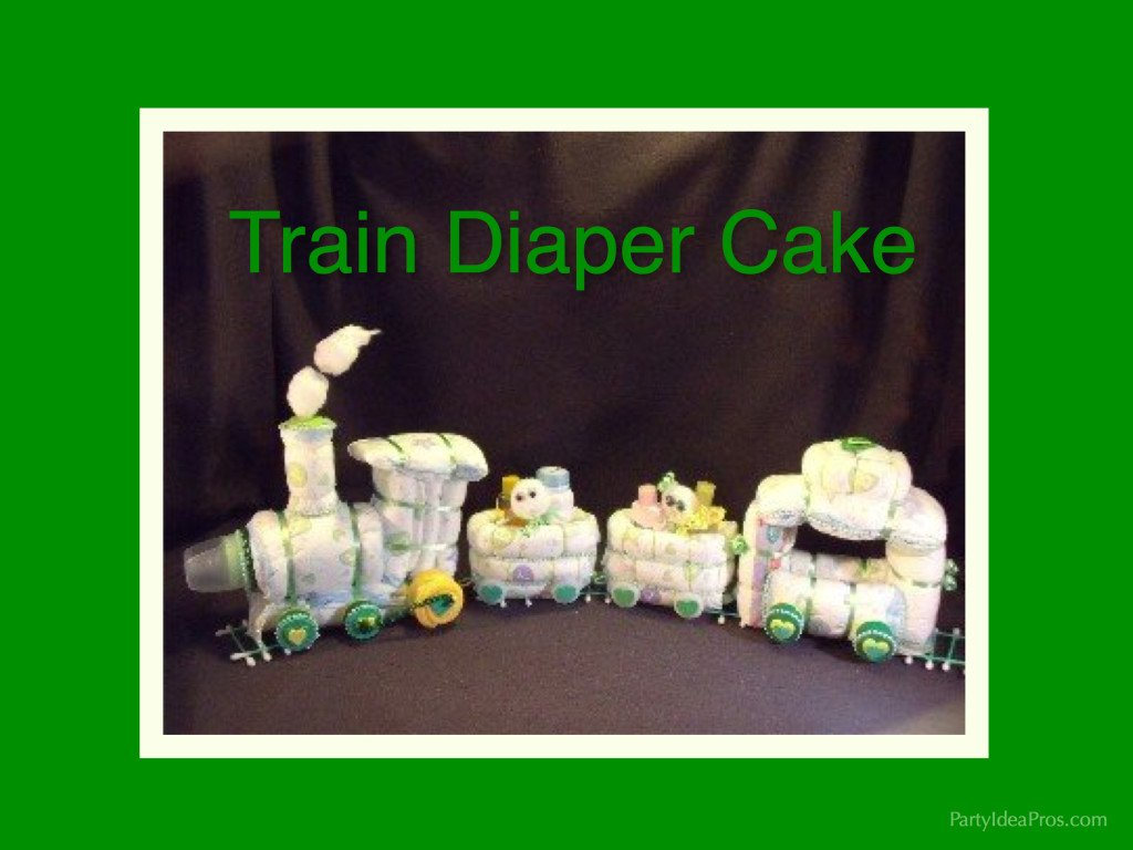 Baby Shower Centerpiece Gifts Train Diaper Cake
