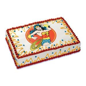 Wonder Woman Edible Cake Image Topper