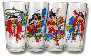Wonder Woman Glass Gift Drink Set