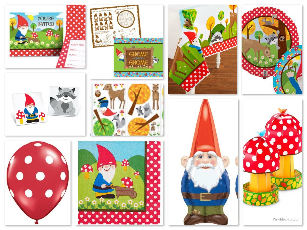 Woodland Gnome Party Supplies