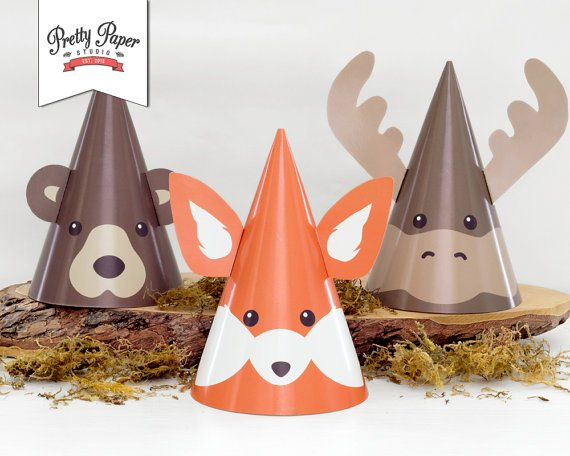 Woodland Animal Party Hats