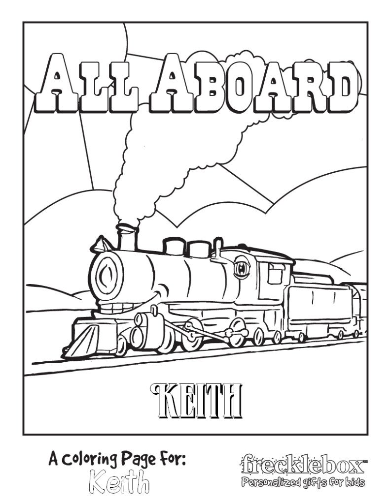 ALL ABOARD COLORING PAGE