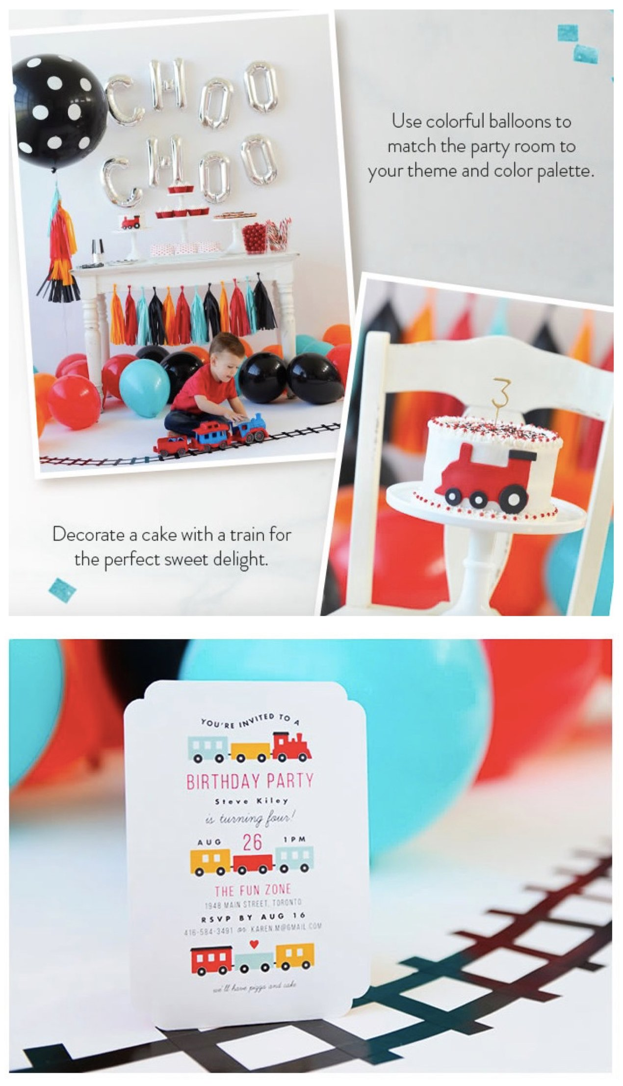 Choo Choo Train Theme Party Ideas On Minted