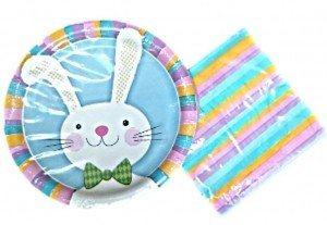 Easter Bunny Paper Plates and Napkins