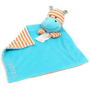 Hope Hippo Poetic Plush Lovey Blanket