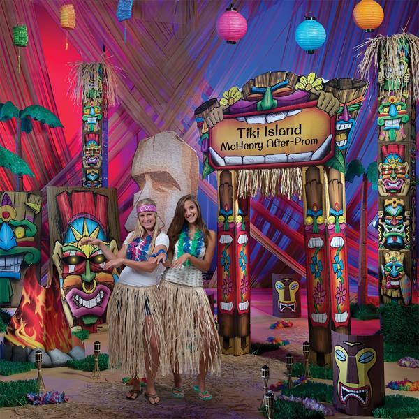 Luau Theme Prom, Tiki Island Theme Prom
