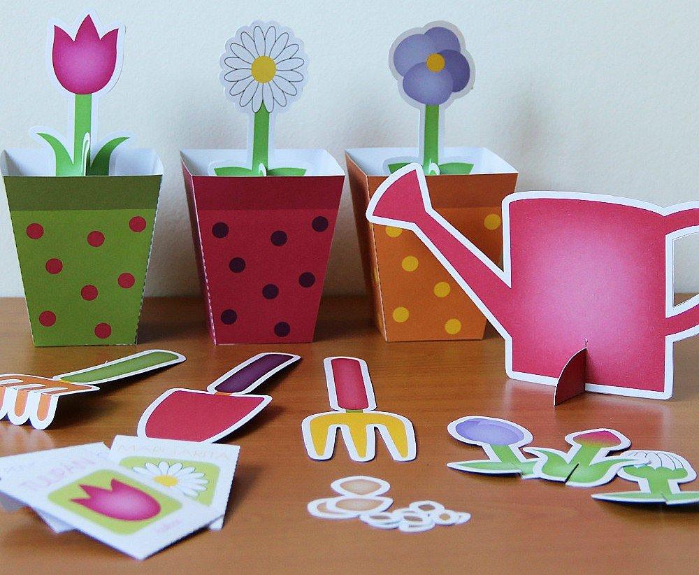 Printable gardening set
