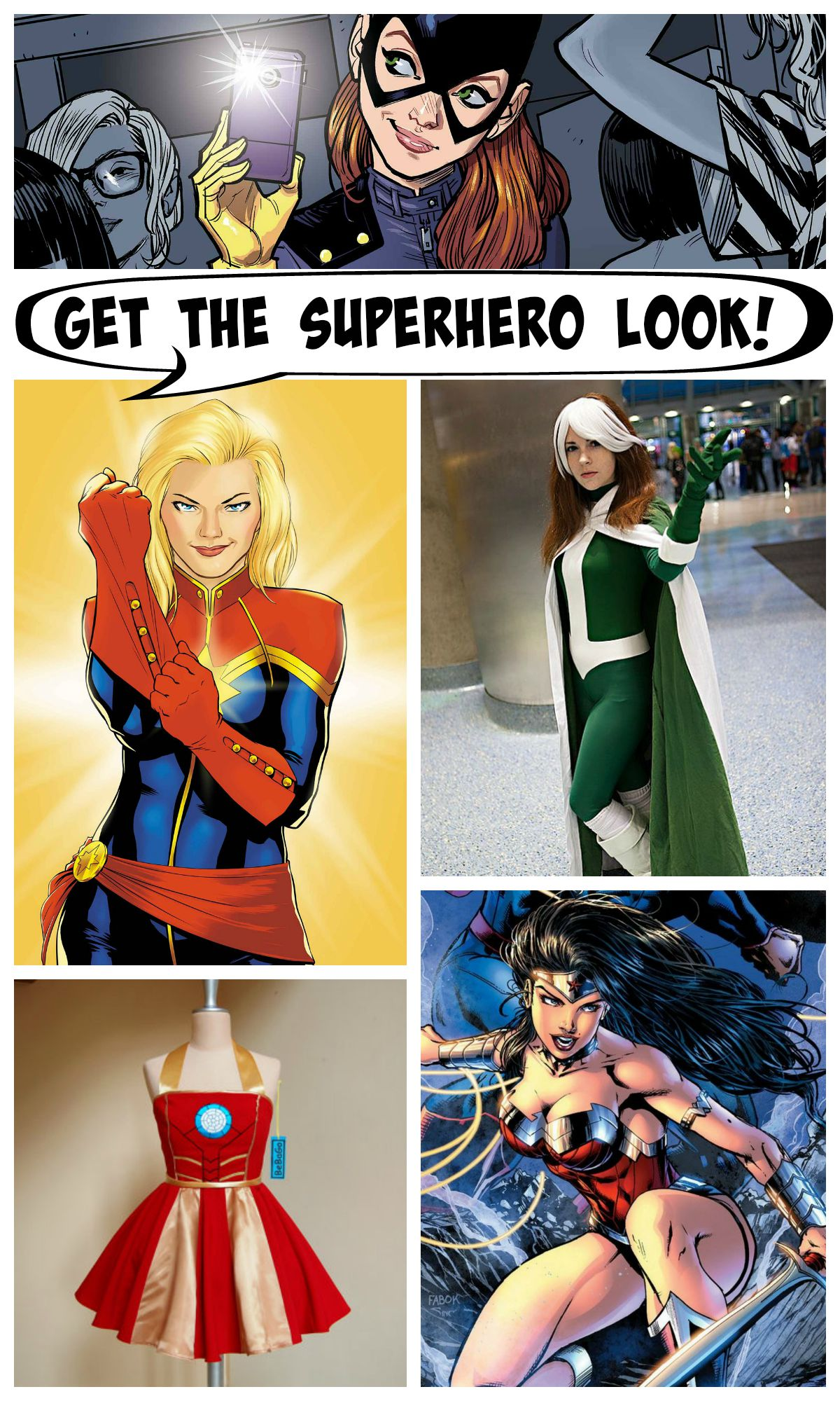 Superhero Women Collage