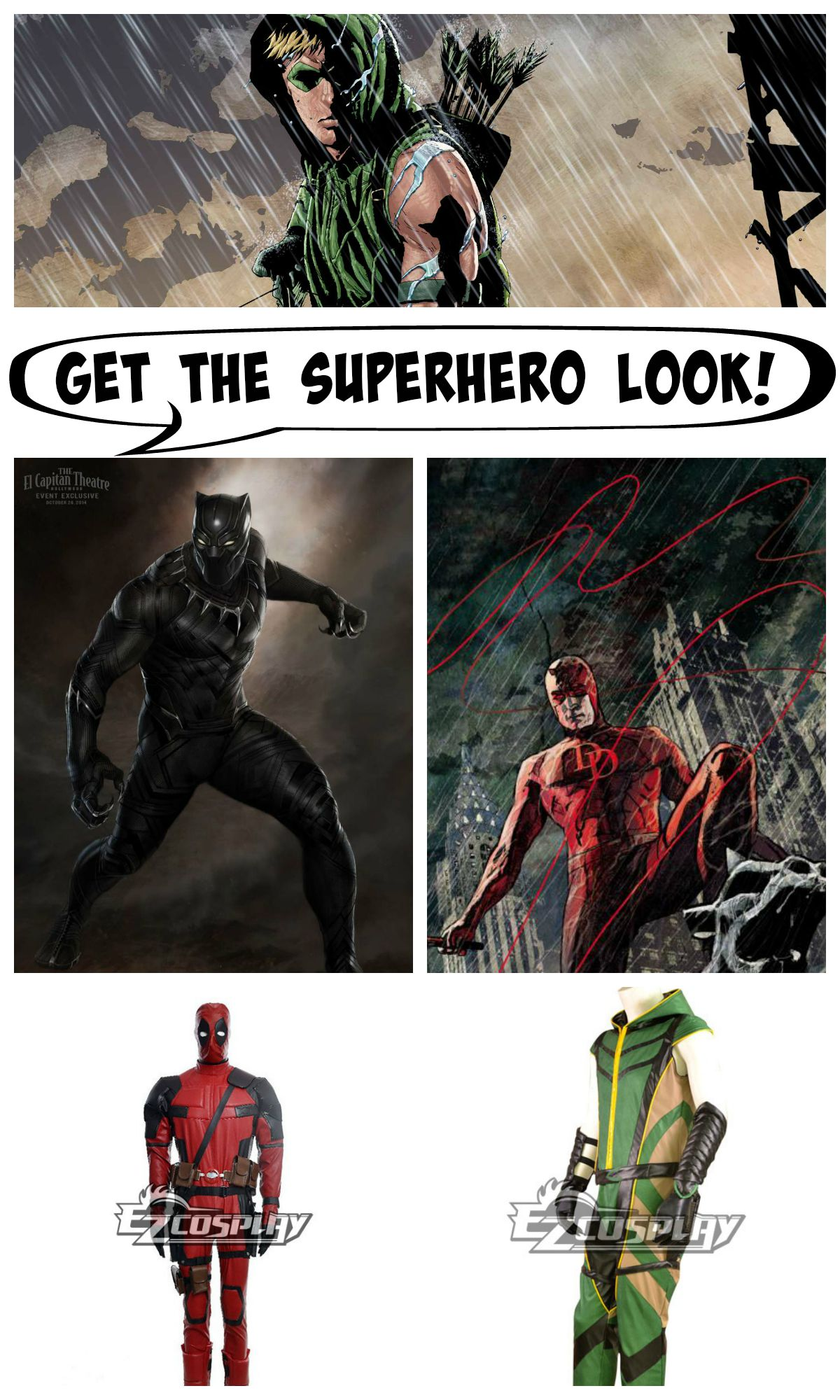 Superhero Men Collage