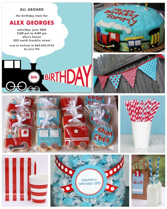 Train Theme Birthday Party Ideas & Supplies