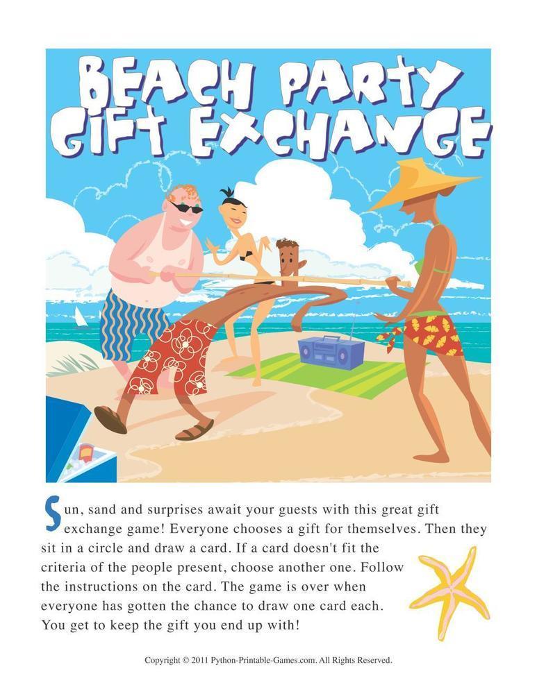 Beach Games Gift Exchange