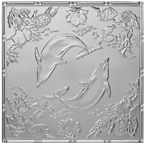 Delightful Dolphins - Tin Ceiling Tile