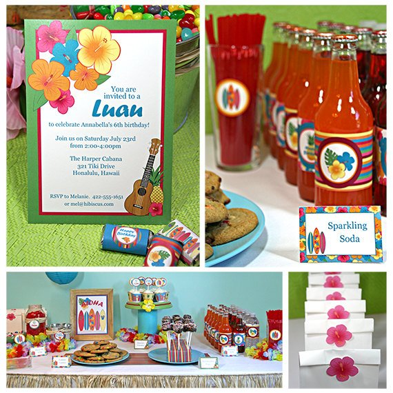 Luau Birthday Party Printable Kit