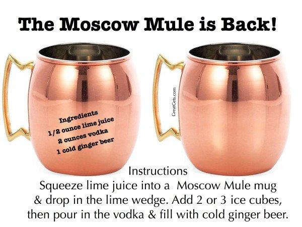 Moscow Mule Mugs & Recipe