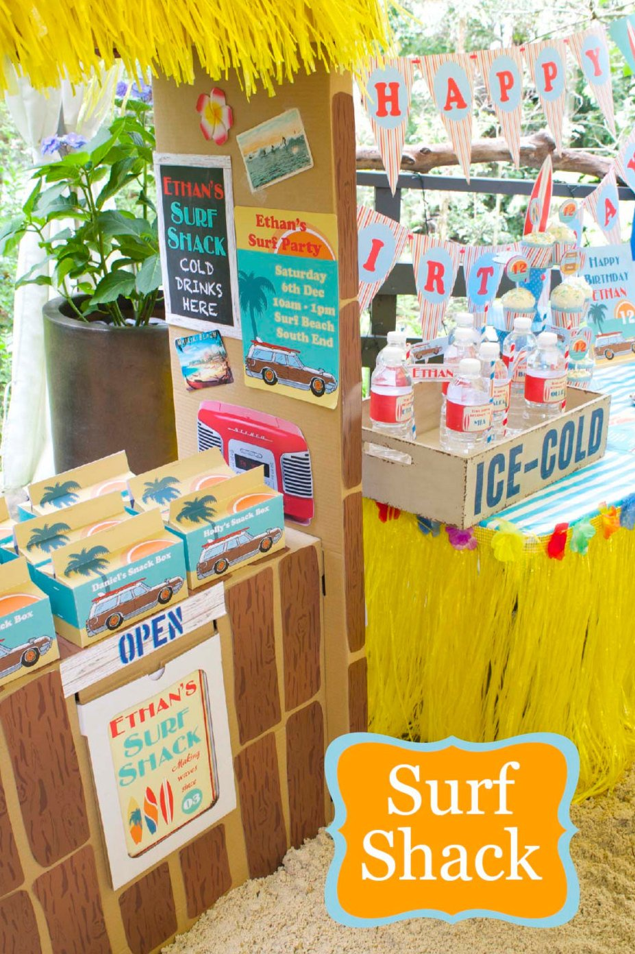Surf Party Printable Decorations