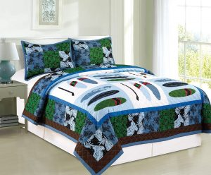 Surf Up Embroidered Quilt Coverlet