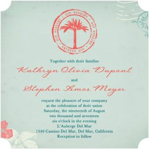 Wedding Invitations Passport to Paradise