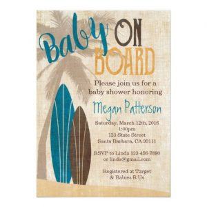 Surf Baby Shower Invitation
