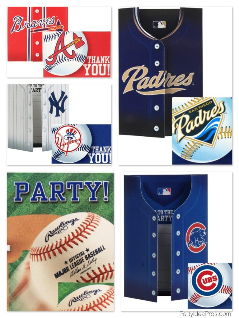 MBL Team Baseball Party Invitations & Thank You Notes