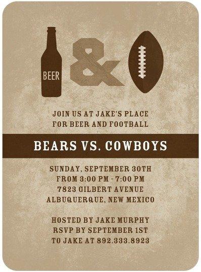 Beer & Football Invitation