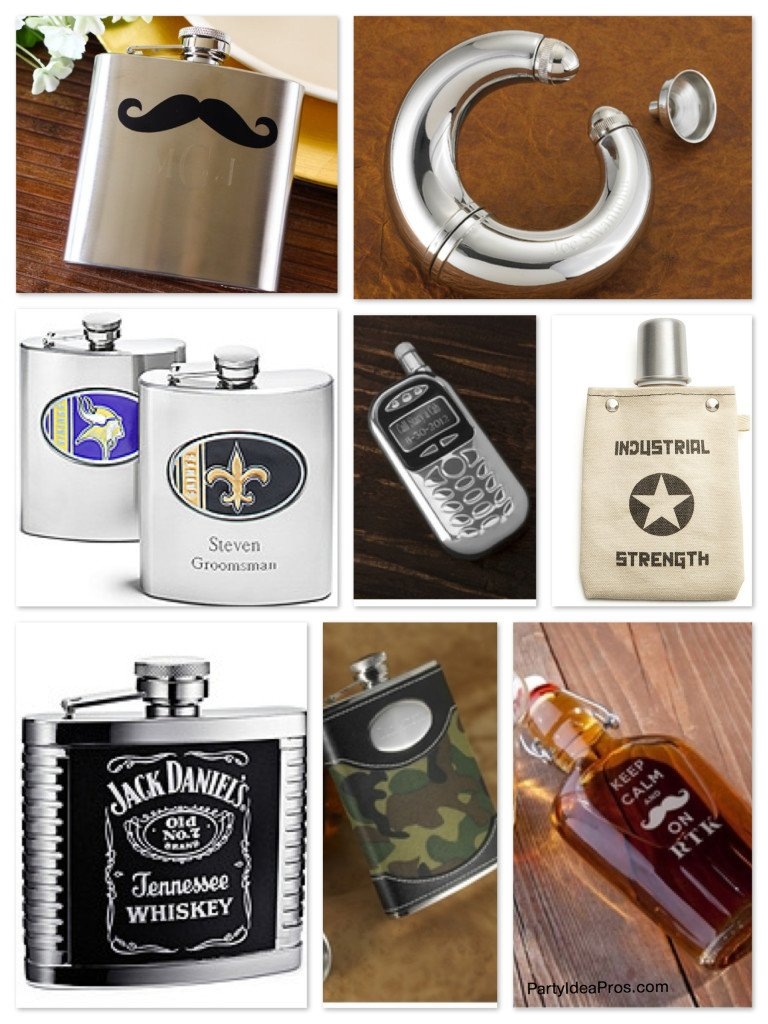 Groomsmen Novelty Flasks