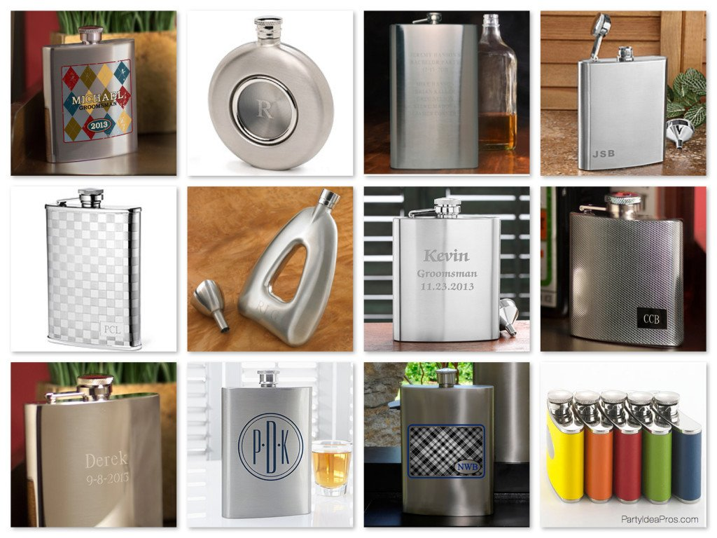 Metal Groomsmen Flasks