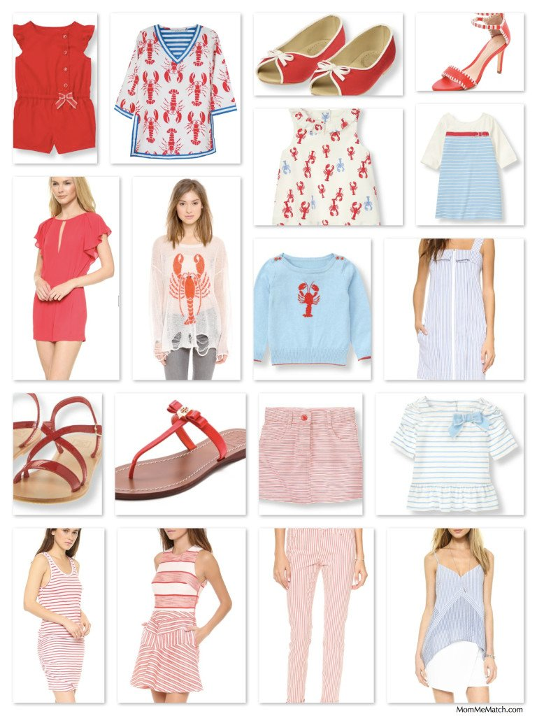 Mother Daughter Matching Lobster Bake Outfits