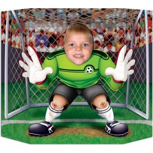 Goalie pop up soccer party decoration, World Cup Final Viewing Party