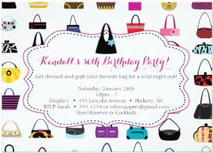 HANDBAGS GALORE - Purse themed Invitations