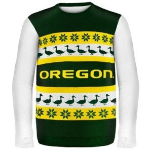 College Sweaters, college game day sweaters, Oregon Ducks Wordmark Ugly Sweater