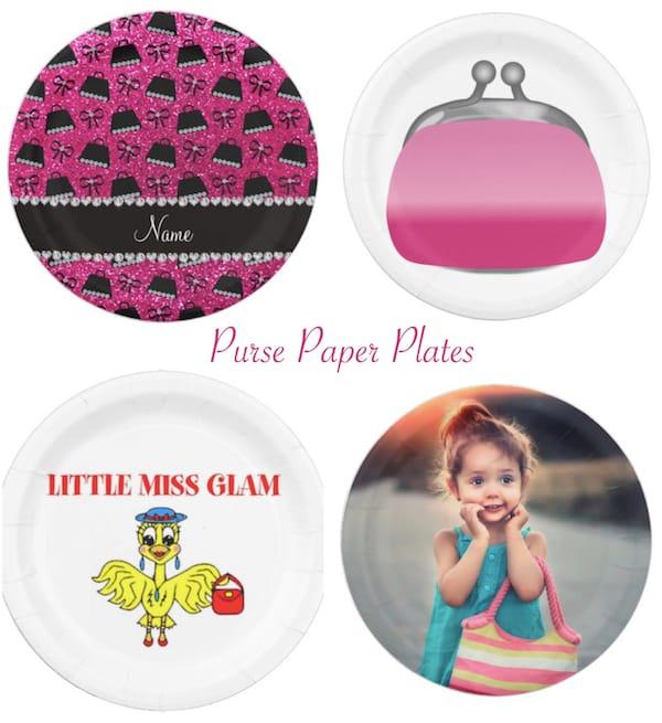 Purse Theme Paper Plates