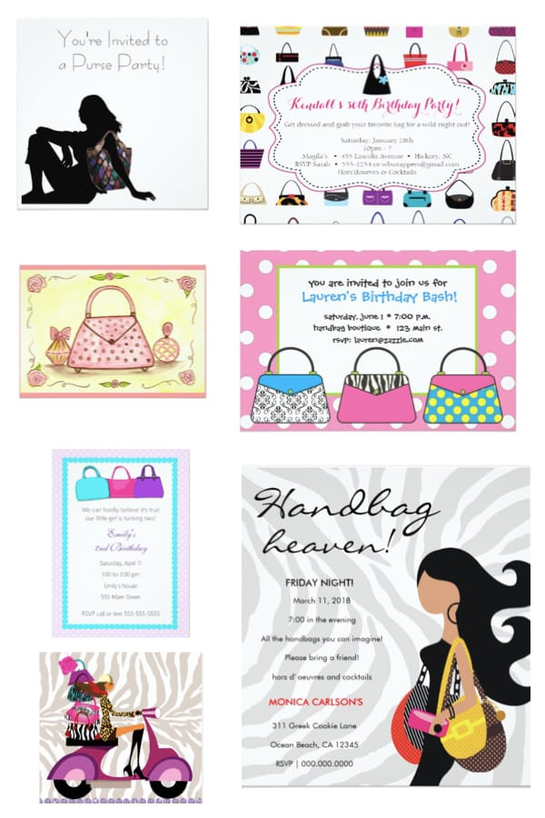Purse Party Invitations