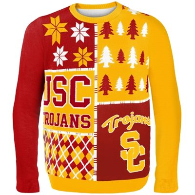 USC Trojans Busy Block Ugly Sweater | PartyIdeaPros.com
