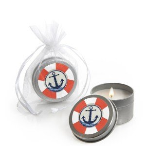 Ahoy - Nautical - Candle Tins - Set of 12