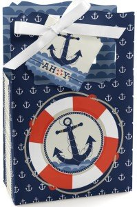 Ahoy - Nautical - Classic Favor Box - Set of 12