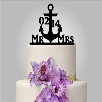 Anchor Wedding Cake Topper
