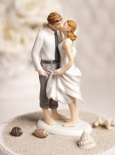 Beach Get Away Coastal Wedding Cake Top Topper