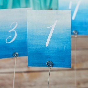 Beach Nautical Watercolor Table Numbers