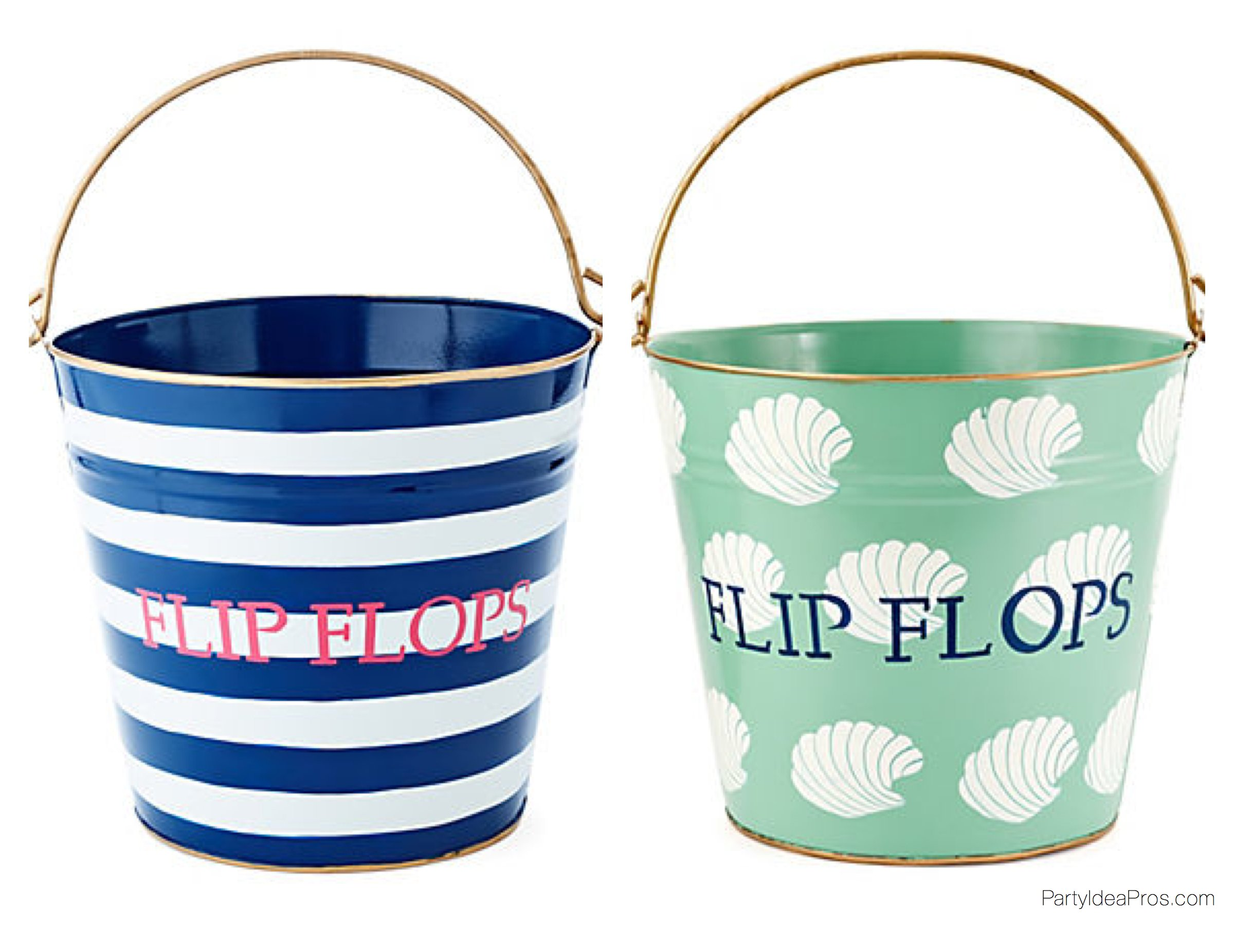 Beach Theme Wedding Flip Flop Pails