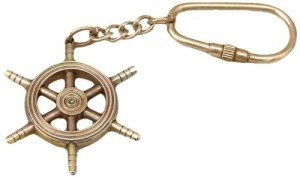 Brass Copper Ship Wheel Key Chain