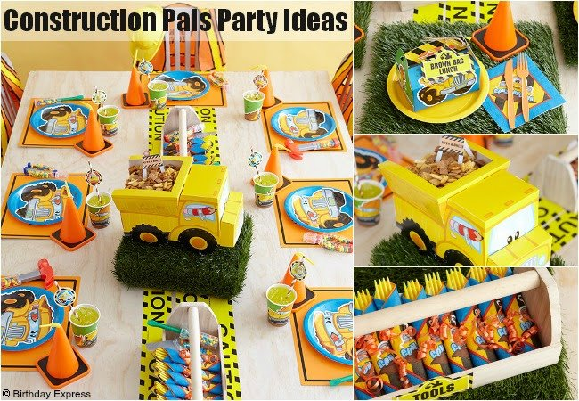 Party Supplies Construction Theme Canada Party Supplies – Construction Themed Birthday Party Invitations