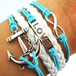 EyourlifeAnchor Rudder Nautical Love Bracelet