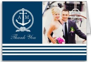 Folded Photo Thank You Notes | Nautical Stripes Greeting Cards