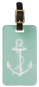 Nautical Anchor Luggage Tag