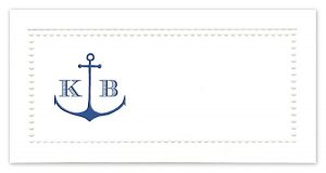 Nautical Anchor Monogram Place Cards