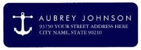 Nautical Navy Address Labels Custom Return Address Labels