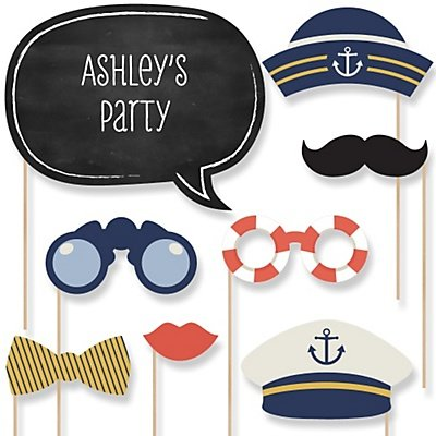 Nautical Party Photo Booth Props Kit