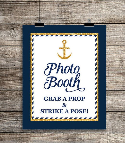 Nautical Photo Booth Sign